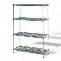 Buy cheap Zinc-plated Storage Rack Furniture for Restaurants, with Green Epoxy Coating Finish product