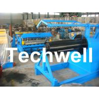 China Q235 / Q350 0.2 - 2.0mm Carbon Steel, Color Steel Simple Slitting Cutting Machine Line on sale