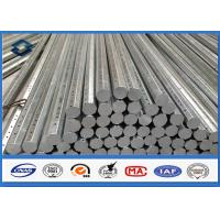 Buy cheap 69KV 30FT 35FT Octagonal Galvanized Steel Pole for Distribution 345 Mpa Min Yield Stress from Wholesalers