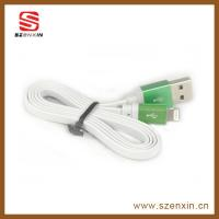 Flat Good-quality Metal USB Charge Cable for iPhone 5
