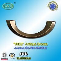 Buy cheap Antique bronze H005 Metal Coffin Handles Italy  Zinc Alloy Half moon shape old bronze color from Wholesalers