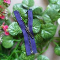 Buy cheap 5# Purple Open End Zippers With Auto Lock Slider For Jeans / Garment / Home Textile product