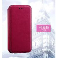 Buy cheap Pink Iphone 6 Plus Leather Wallet Case , Book Cover Protective Magnetic Leather Case product
