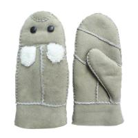 Buy cheap Promotion Fashion Plain Daily Life Usage Winter Warm Real Lamb Fur Mittens Gloves product