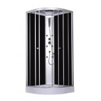 Buy cheap 900x900x2150mm Fashion Massage Corner Shower Stalls , Circle Quadrant Shower Cabin with white acrylic tray and roof product