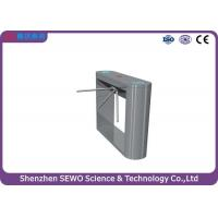 Buy cheap 304# Stainless Steel Semi-automatic Tripod Turnstile Gate  Pedestrian Turnstile Gate system from Wholesalers