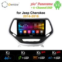 China Ownice Octa Core Android 9.0 Car DVD GPS Navi Player k3 k5 k6 for Jeep Cherokee 2014 2015 2016 4G on sale