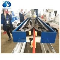 Corrugated Pvc Pipe Making Plant For Garden Hose , Single - Screw Design