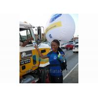 China Durable 0.18mm PVC Backpack Balloon Inflatable Balloon For Outdoor Advertising on sale