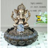 Buy cheap Indian Polyresin Water Fountain With Revolving Ball , Electricity Pump Power product