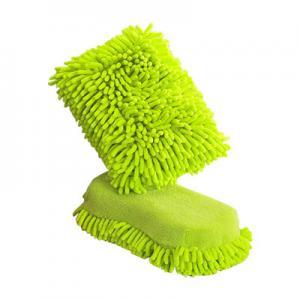 Car Cleaning Microfiber Cloths Sponge , Microfiber Polishing Cloth