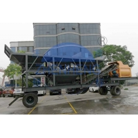 Buy cheap Computer Control LCD Charging 800L Mobile Concrete Batching Plant product