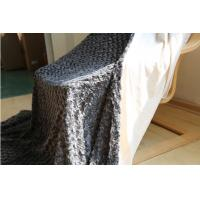 Buy cheap Micro Plush Double Sided Faux Fur Blanket , Super Soft Fake Fur Throw Blanket product