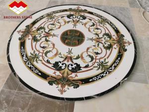 Buy cheap Villa Entrance Green Jade Onyx Flower Waterjet Marble Tiles product