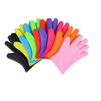 Buy cheap Anti - Dust Silicone Bbq Gloves , Heat Resistant Oven Gloves With Fingers product