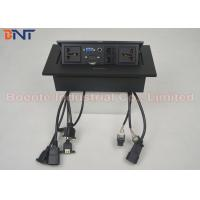 Buy cheap Standard Square Panel Pop Up Desk Power Outlet With Rectangle Press Button product