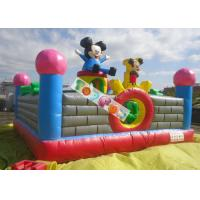 Buy cheap Lovely Mickey Kids Inflatable Amusement Park For Jumping Fun 0.45mm - 0.55mm PVC product