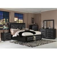 China Wood Black Turkish Living Room Furniture Sets Leather Upholstery on sale