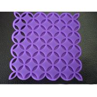 Custom Purple Kitchen Silicone Mat, Heat Resistant Silicone Pad For Oven OEM / ODM