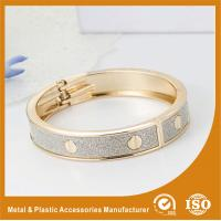 Buy cheap Solid Brass 18K Gold Cuff Bangle Bracelets Fashion Jewelry Bangles product