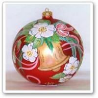 China Hand Paint Glass Ball Ornaments on sale
