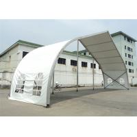 Buy cheap 20m High Peak Peach Shaped Clear Span Tent Aluminum Frame Structure Material product