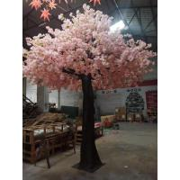Buy cheap Anti - Wind Vivid Outdoor Artificial Cherry Blossom Tree 4m Height 3m Width product