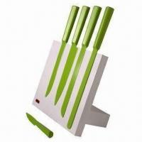 China 6-piece Color-coated Kitchen Knife Magnetic Block Set, Blade Made of 3cr13 on sale