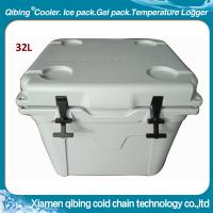 32L plastic rotomold ice cube white cooler box