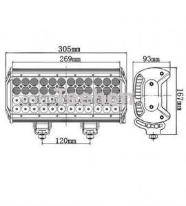 Buy cheap 144 Watt 12 Inch Quad-Row LED Light Bar for 4WD Vehicles product