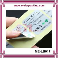 Buy cheap high quqlity and heat resistant plastic pipe stickers/waterproof vinyl adhesive custom label for electronic ME-LB017 product