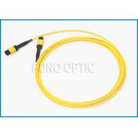 Buy cheap Single / Multi Mode MPO Fiber Optic Cable With LSZH Outer Jacket IEC Standard product