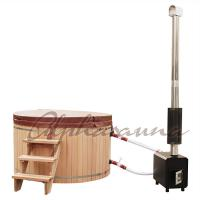 Buy cheap 2100*900/1000/1200MM Sauna Hot Tub With Burning Stove Garden A Grade clear  Cedar Tub product