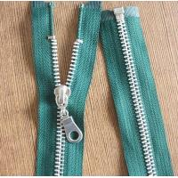 Buy cheap 8# Light Gold Teeth Long Separation Metal Zippers For Tent , Sleeping Bag product
