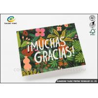 Buy cheap Colorful Paper Greeting Cards Green Plant Printing With Voice Recording Module product
