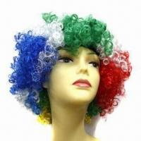 Football Fan Wig, All Colors are Available