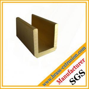 China polish mirror surface chrome-plating brass zinc copper alloy u channels brass hardware on sale