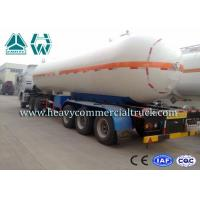Quality Round Shape Large Capacity Gas Tank Semi Trailer Anti - Corrosion Propane for sale