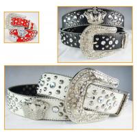 Buy cheap rhinestone crown accessories belts for jeans for cowgirl product
