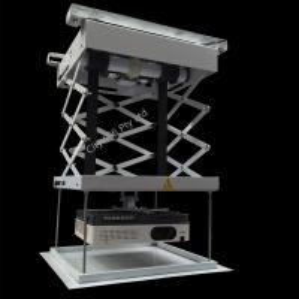 Electric scissor motorized projector ceiling wall mount for Motorized ceiling projector mount
