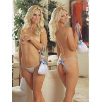 Buy cheap Sexy Latest Gorgeous Sheer Fashionable Knot Personalised Bridal Underwear With OEM ODM product
