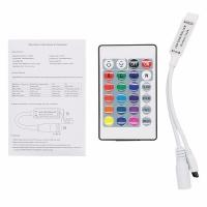 China 24Key IR Remote Mini RGB Led Strip Dimmer Controller on sale