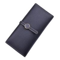 Buy cheap Women PU Leather Money Clip Wallet Durable Hardware Buckle With Polyester Lining Material product