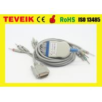 Buy cheap GE Marquette EKG Cable with Integrated 10 leadwires DIN 3.0 IEC 10K ohm Resistor from wholesalers