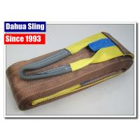 Brown Synthetic 6 Ton Flat Lifting Slings 6 Inch Single Layer For Heavy Goods