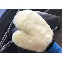 Buy cheap Household White Car Wash Hand Gloves , Lambswool Car Wash Mitt 26.5 X 21 Cm product