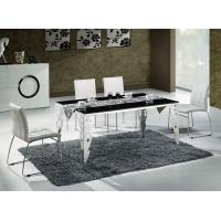 Buy cheap Contemporary Tempered Black Glass Rectangle Dining Table with Chairs Factory Wholesale product