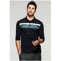 Buy cheap 2019 Men's New Latest Fashion Design High Quality Long Sleeve Polo Shirt product