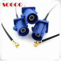 China U.FL To Fakra C Rf Coaxial Cable / Straight Blue Jack Auto Coaxial Cable Assembly on sale