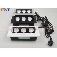 Buy cheap High-Class Office Tabletop Power Outlet / Pop Up Power Sockets White / Black / Silver product